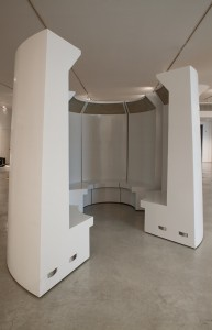 Grayson Cox, Conversation Booth installed at the FIsher Landau Center for Art